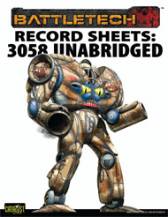 Record Sheets: 3058 Upgrade Unabridged, Inner Sphere