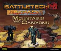 Battletech HexPack  Mountains and Canyons -  Catalyst Game Labs