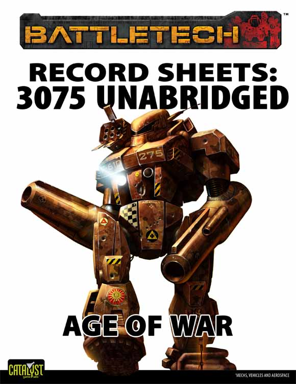 BattleTech: Record Sheets 3075 UnabridgedÑAge of War
