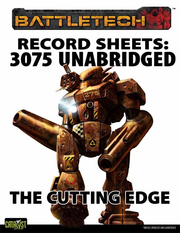 BattleTech: Record Sheets 3075 UnabridgedÑThe Cutting Edge