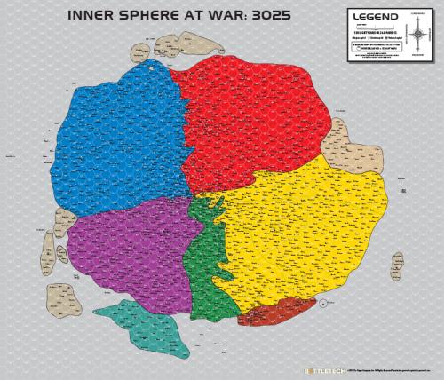 Map of the Inner Sphere 3025